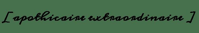 apothicaire-extraordinaire